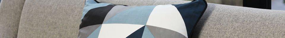 Materialbeschreibung Blaues Kissen Norway
