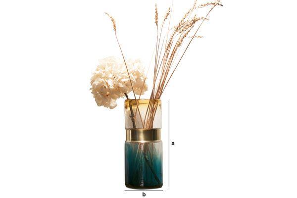 Produktdimensionen Brassbelt Glasvase