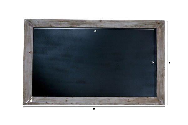Produktdimensionen Brasserie-Tafel 115x190cm