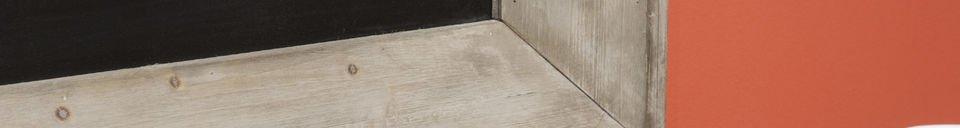 Materialbeschreibung Brasserie-Tafel 122x83 cm