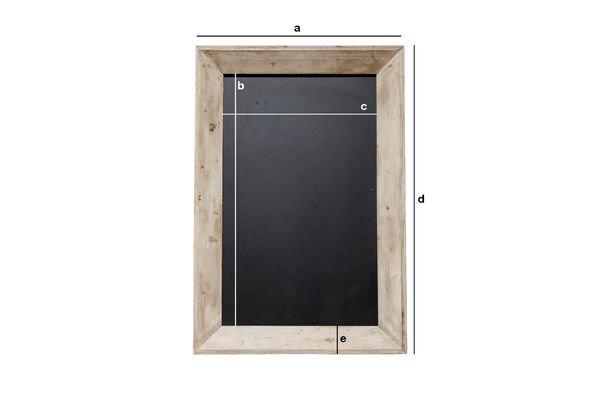 Produktdimensionen Brasserie-Tafel 122x83 cm