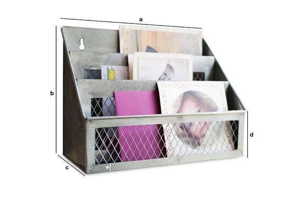 Produktdimensionen Briefbox Sabir