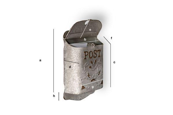 Produktdimensionen Briefkasten Post