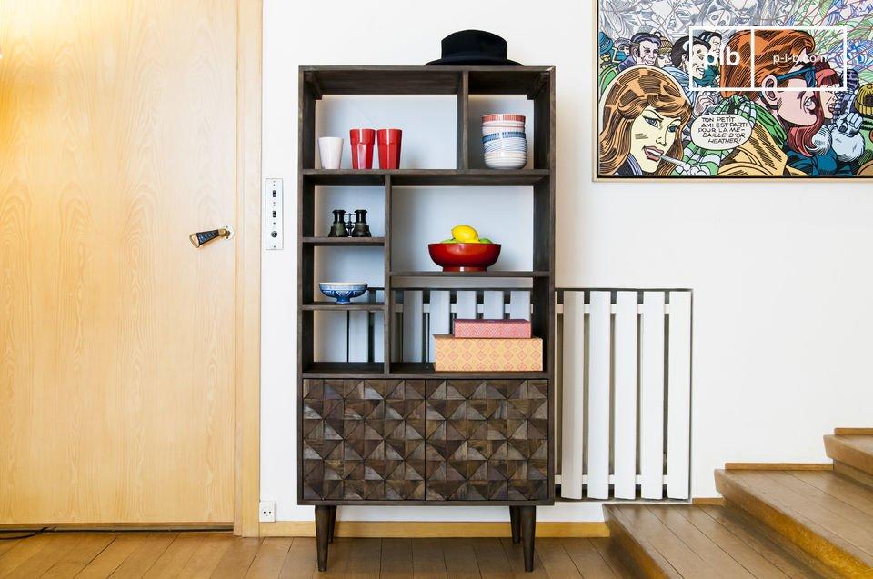 Bücherregal aus Holz Balkis