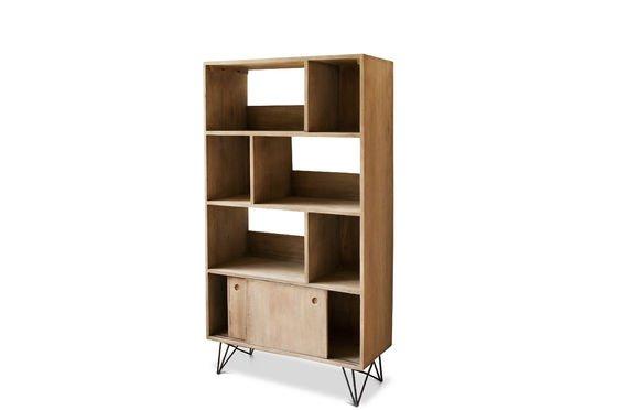 Holz bücherregal  Bücherregal aus Holz Zürich - Helles Holz und Retrostil | PIB