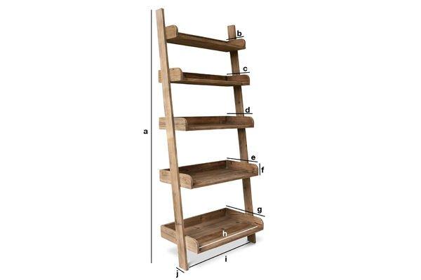 Produktdimensionen Bücherregal Große Leiter