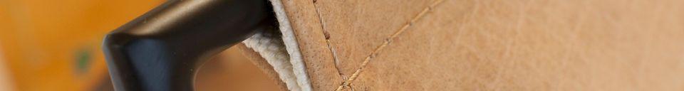 Materialbeschreibung Casperünd Hängesessel aus Leder