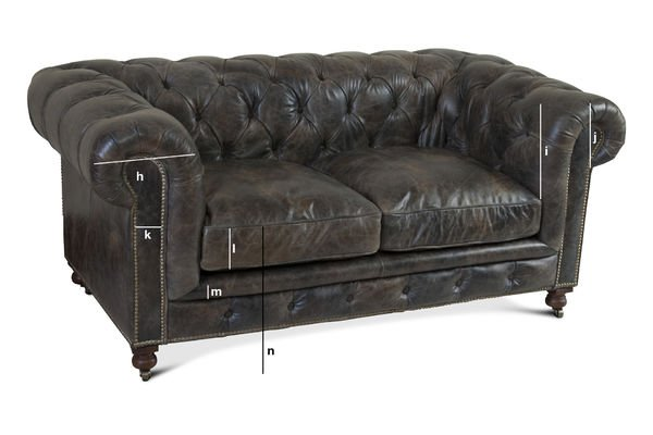 Produktdimensionen Chesterfield-Sofa Saint James