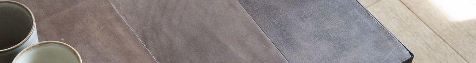 Materialbeschreibung Couchtisch aus Leder Rothmann