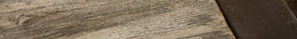Materialbeschreibung Couchtisch aus recyceltem Teakholz