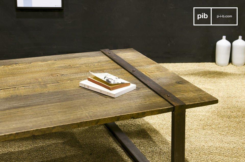 Massivholz-Tischplatte aus alter Ulme im 100% Industrial Style