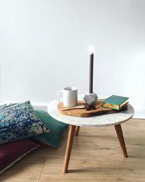 skandinavischer Couchtisch aus Marmor