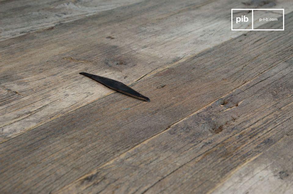Großer Wohnzimmertisch aus recyceltem Ulmenholz