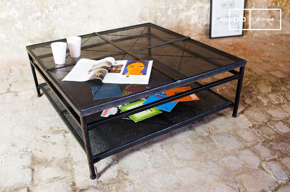 Der Couchtisch Shatar ist ein perfektes Beispiel vom Design industrieller Vintage Möbel