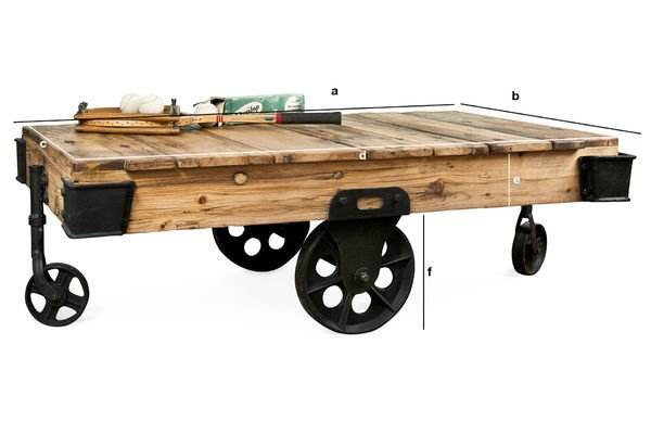 Produktdimensionen Couchtisch Wood Wagon