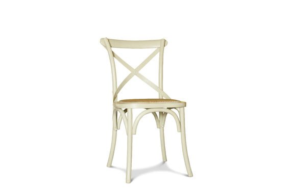 Cremefarbener Stuhl Pampelune ohne jede Grenze