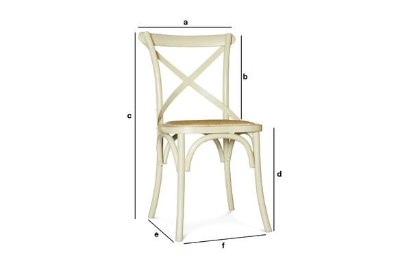 Produktdimensionen Cremefarbener Stuhl Pampelune