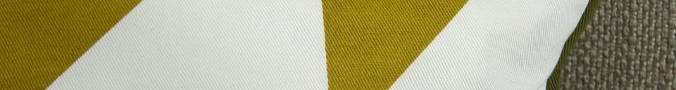 Materialbeschreibung Curry-farbenes Kissen Norway
