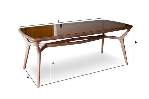 Produktdimensionen Dagsmark Esstisch aus Holz und Glas