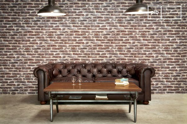 Dark chesterfield sofa