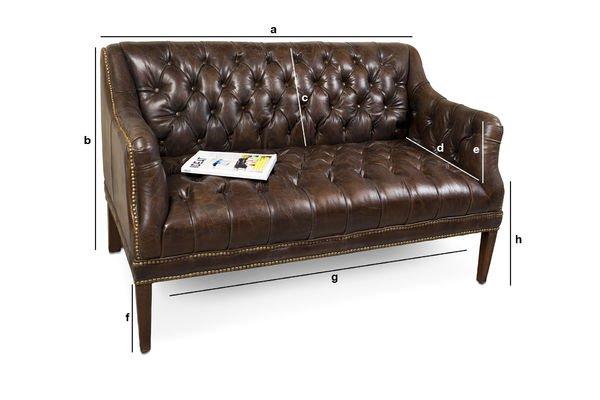 Produktdimensionen Das Sofa des Doktor Freud