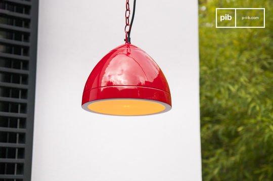 Deckenlampe Këpsta in Rot