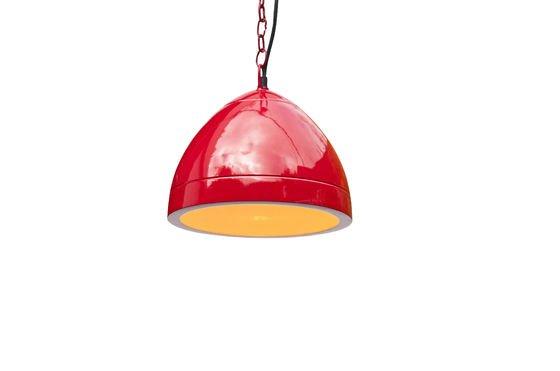 Deckenlampe Këpsta in Rot ohne jede Grenze