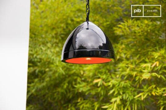 Deckenlampe Këpsta in Schwarz