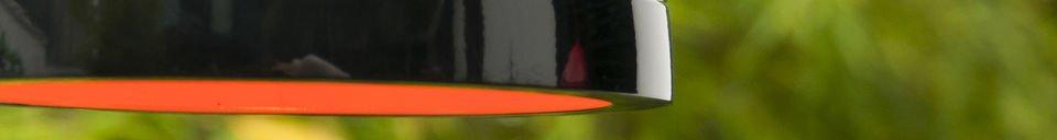 Materialbeschreibung Deckenlampe Këpsta in Schwarz