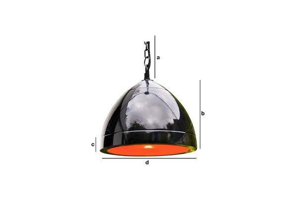 Produktdimensionen Deckenlampe Këpsta in Schwarz