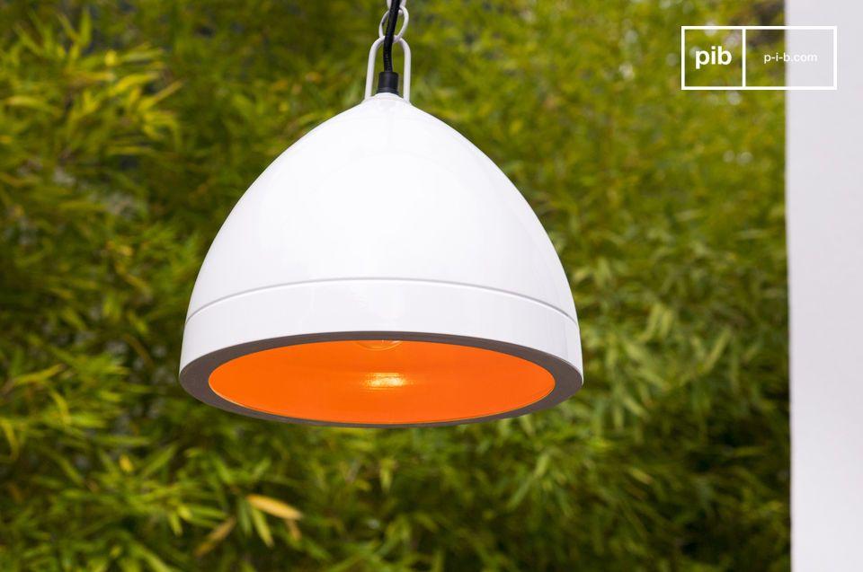 Deckenlampe Këpsta in Weiß