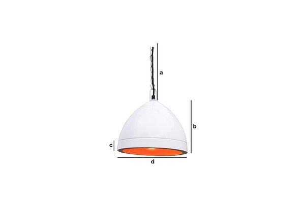Produktdimensionen Deckenlampe Këpsta in Weiß