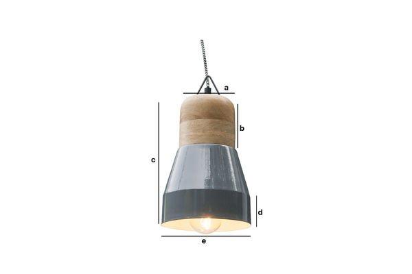 Produktdimensionen Deckenlampe Newark