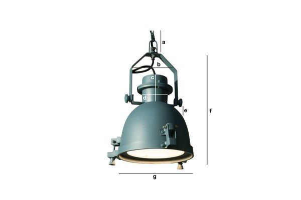 Produktdimensionen Deckenlampe Spitzmüller in Petrolbau