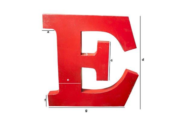 Produktdimensionen Deko-Buchstabe E