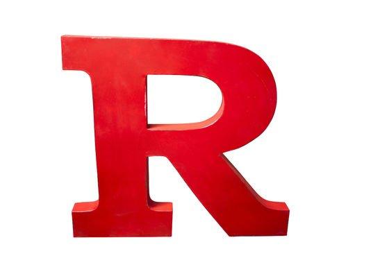 Deko-Buchstabe R ohne jede Grenze