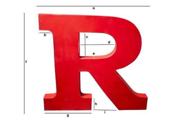 Produktdimensionen Deko-Buchstabe R