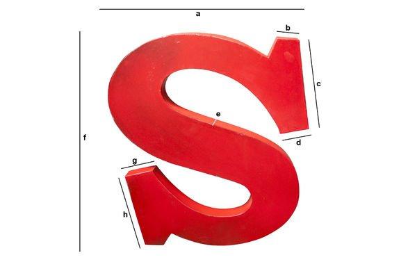 Produktdimensionen Deko-Buchstabe S