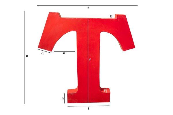 Produktdimensionen Deko-Buchstabe T