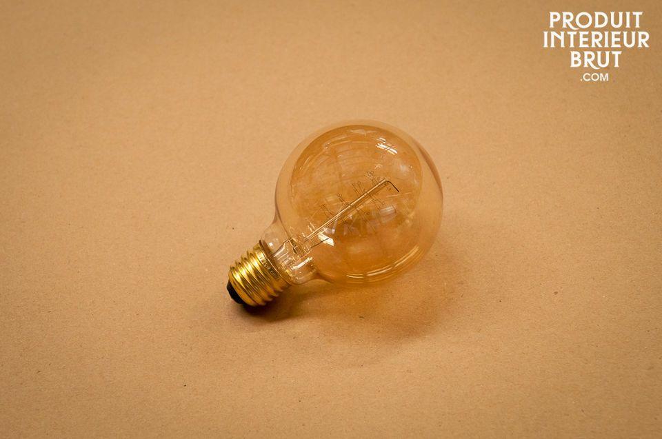Große sphärische Glühbirne mit Vintage Glühfaden
