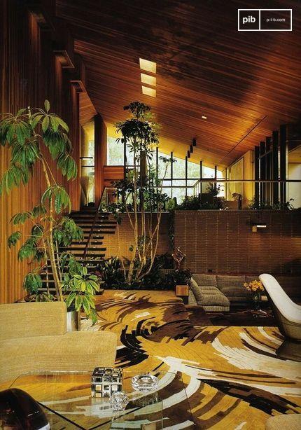 Die Mischung aus vielen Texturen und Materialien ist ein Merkmal der 1970er Jahre.