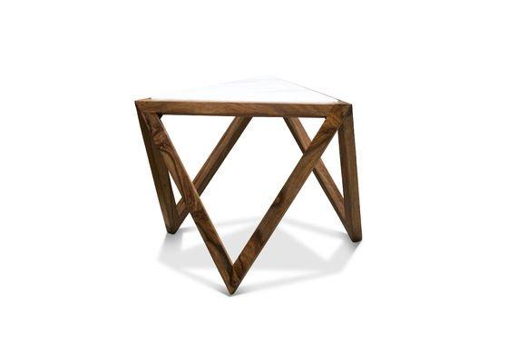 Dreieckiger Beistelltisch Marmori ohne jede Grenze