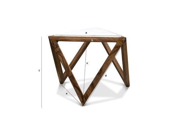 Produktdimensionen Dreieckiger Beistelltisch Marmori