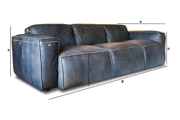 Produktdimensionen Dreisitzer-Sofa Atsullivan