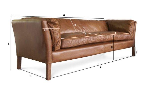 Produktdimensionen Dreisitzer Sofa Hamar