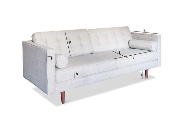 Produktdimensionen Dreisitzer Sofa Silkeborg