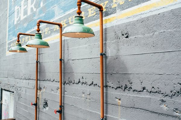 drie hanglampen