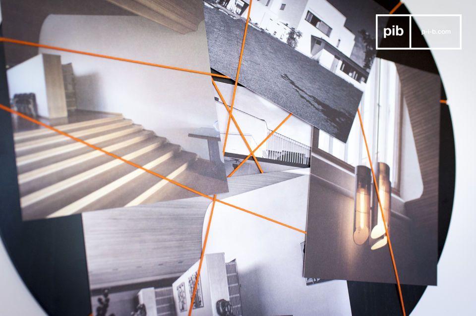Ein kontrastreicher und origineller Fotorahmen