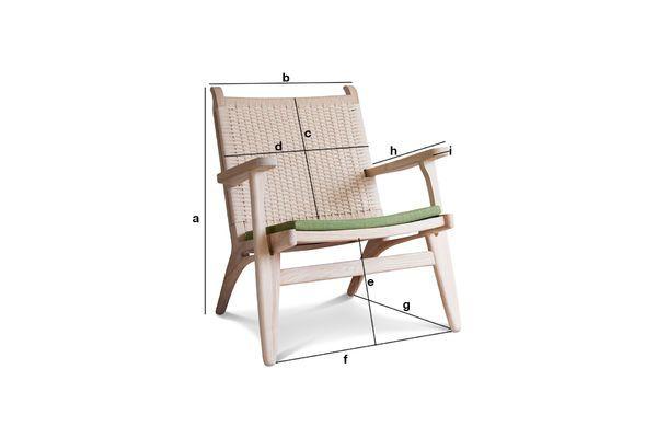 Produktdimensionen Eiche Sessel Satow