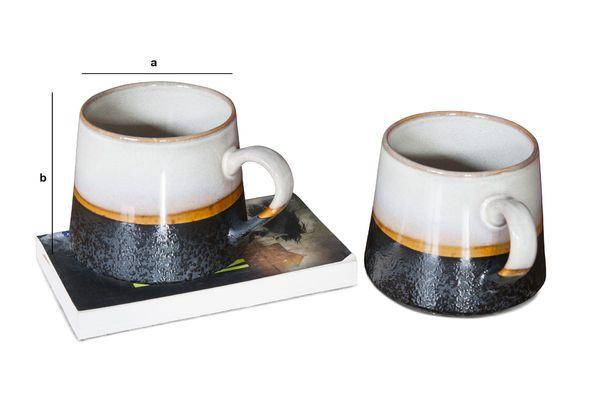 Produktdimensionen Ein Paar große Keramik Tassen